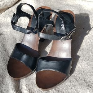 Fioni Black and Brown with Stud Heels - Never worn
